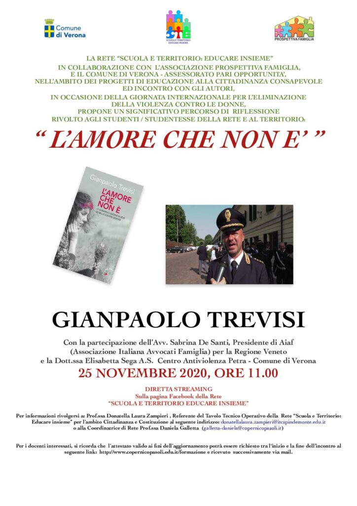 L'AMORE CHE NON E' di Gianpaolo Trevisi - 25 novembre 2020